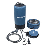 Outdoor 3 Gallons/11L Portable Camping Pressure Solar Shower w/Foot Pump