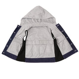 ZooVaa Weighted Kids Vest - Childrens Denim Compression Hoodie Vest w/ Removable Weights - Medium