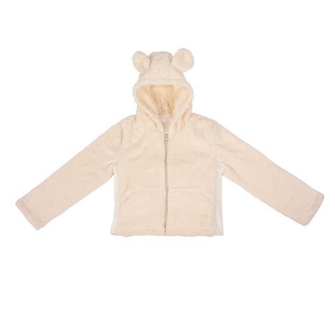 Children's Weighted Compression Sherpa Hooded Jacket - Small