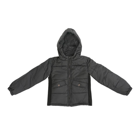 Children's Weighted Compression Puffer Hooded Jacket - Small