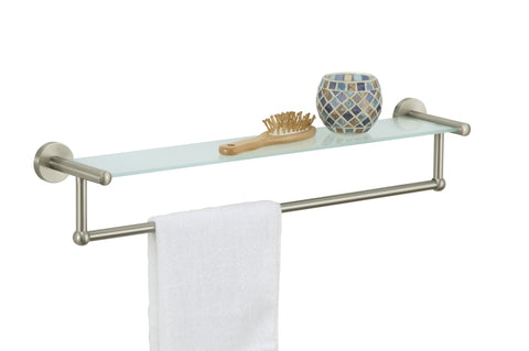 Organize It All Shelf w/Towel Bar - Satin Nickel