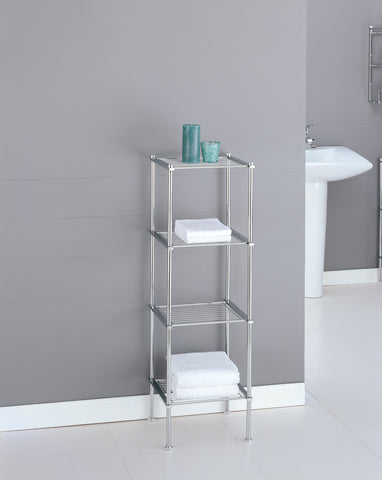 Organize It All 4 Tier Shelf - Chrome
