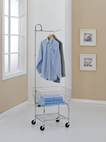 Organize It All Laundry Cart - Chrome