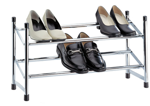 Organize It All Expandable Shoe Rack - Chrome