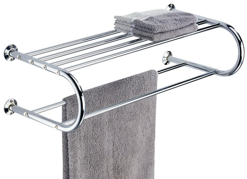 Organize It All Mounting Shelf w/ Towel Bar - Chrome