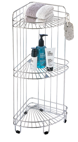 Organize It All 3 Tier Corner Shower Caddy- Chrome
