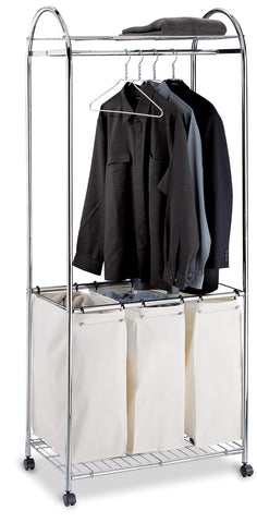 Organize It All Chrome Laundry Sorter w/ Canvas Bag