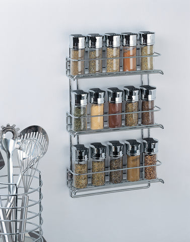 Organize It All Wall Mount Spice Rack - Chrome
