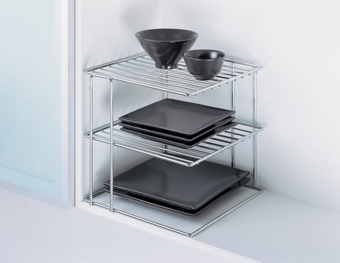 Organize It All Corner Shelf - Chrome
