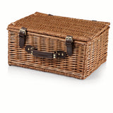 Bristol Picnic Basket, (Navy & Maroon Plaid)
