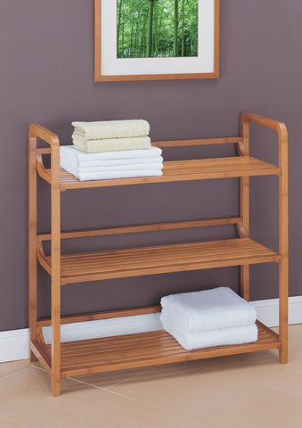 Organize It All 3 Tier Shelf - Natural Bamboo
