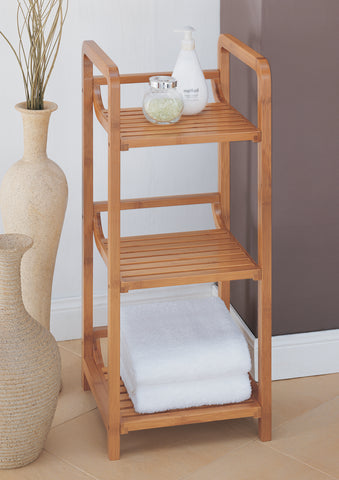 Organize It All 3 Tier Tower - Natural Bamboo