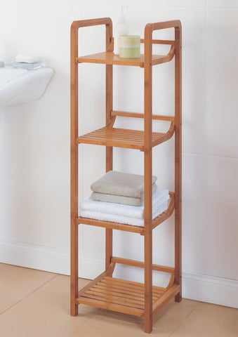 Organize It All 4 Tier Tower - Bamboo