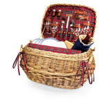 Highlander Picnic Basket, (Red Tartan)