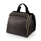 Verdugo Picnic Cooler Tote, (Black with Tan Trim)