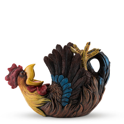 Polyresin Rowdy Rooster Bottle Holder by True