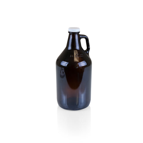 Growler Tap with 65-oz. Glass Growler, (Acacia Wood with Amber Glass Growler)