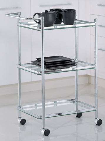 Organize It All Rectangular Serving Cart - Chrome