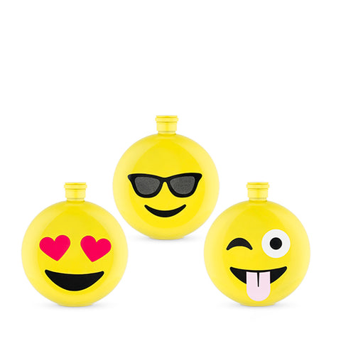 Assorted Emoji Flasks by TrueZoo