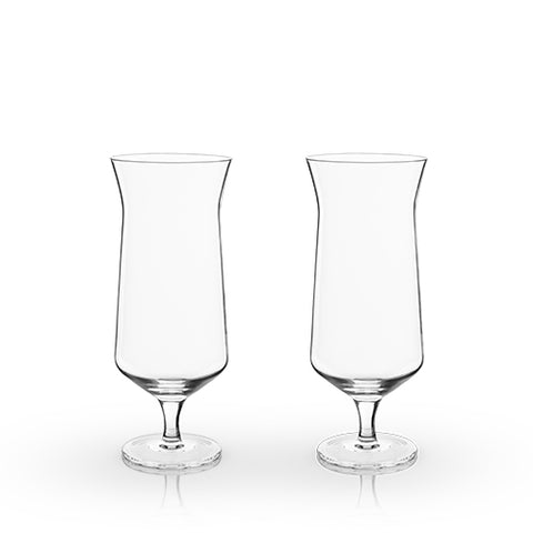 Raye: Angled Hurricane Glass (VISKI)