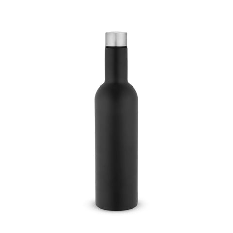 Tanked: Wine Growler in Matte Black, 750ml, by True