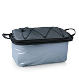 Vulcan Portable Propane BBQ & Cooler Tote, (Black with Grey & Silver)