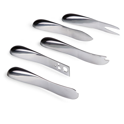 Quintet 4-Pc Stainless Steel Cheese Tools Set