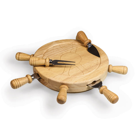 Mariner Lazy Susan Cheese Board & Tools Set