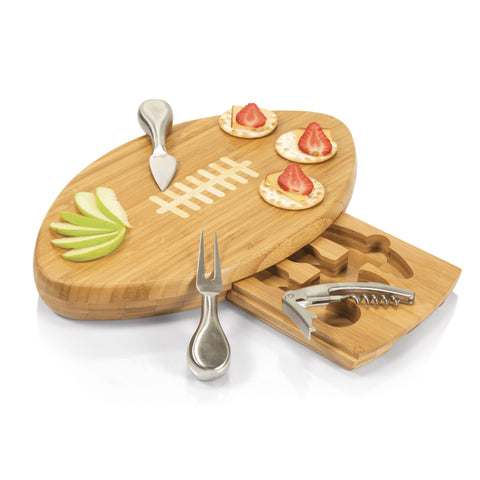 Quarterback Football Cheese Board & Tools Set