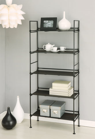 Organize It All 5 Tier Shelf - Resin Espresso
