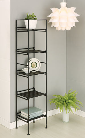 Organize It All 5 Tier Square Shelf - Resin Espresso