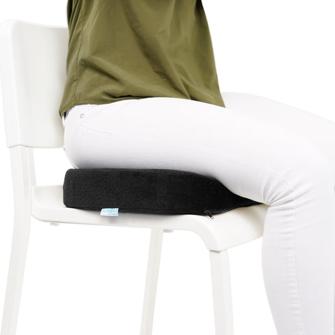 Black Memory Foam Coccyx Seat Cushion by Aurora - AW203
