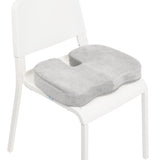 Grey Memory Foam w/ Cooling Gel Coccyx Seat Cushion by Aurora - AW204