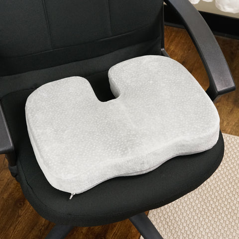 cooling office chair. Grey Memory Foam W/ Cooling Gel Coccyx Seat Cushion By Aurora - AW204 Office Chair T