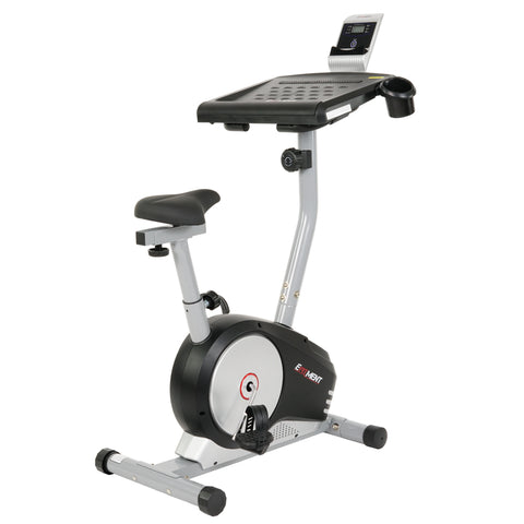 EFITMENT Workstation Desk Exercise Upright Bike, Desk Bike w/Table - B004