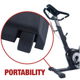 EFITMENT Rear Drive Magnetic Upright Bike | Indoor Exercise Bike w/ Monitor and Tablet Holder- B015