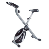 EFITMENT Folding Exercise Bike, Home Upright Bike w/Magnetic Tension and Pulse Grips - B019