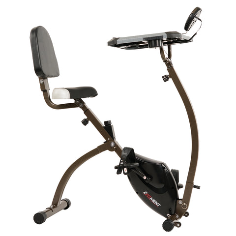 EFITMENT Folding Desk Bike, Semi Recumbent Workstation Exercise Bike for Laptop - B027