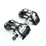 Replacement Caged Foot Pedals for Indoor Cycle Bikes - Pair