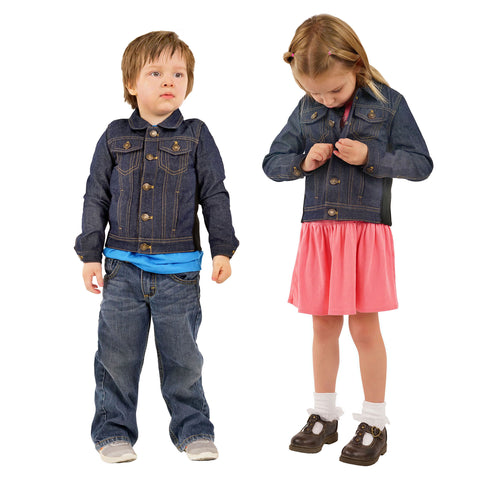 ZooVaa Children's Weighted Compression Denim Jacket - Medium