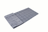 13lb Minky Weighted Compression Sleeping Bag Blanket with Glass Beads - Grey