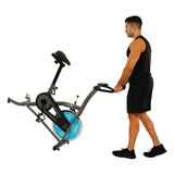 EFITMENT Indoor Cycle Bike, Quiet Belt Drive Cycling Trainer Exercise Bike - IC007