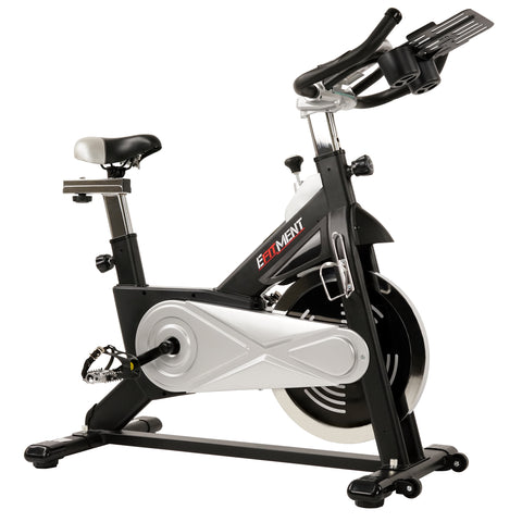 EFITMENT Indoor Cycling Exercise Bike w/40 lb Flywheel, Belt Drive, LCD Monitor with Pulse and Tablet Holder - IC030