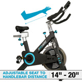 EFITMENT Pro Belt Drive Indoor Cycle Bike with 48.5 lb Flywheel & Monitor - IC028