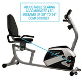 EFITMENT Magnetic Recumbent Bike Exercise Bike with High Weight Capacity - RB034