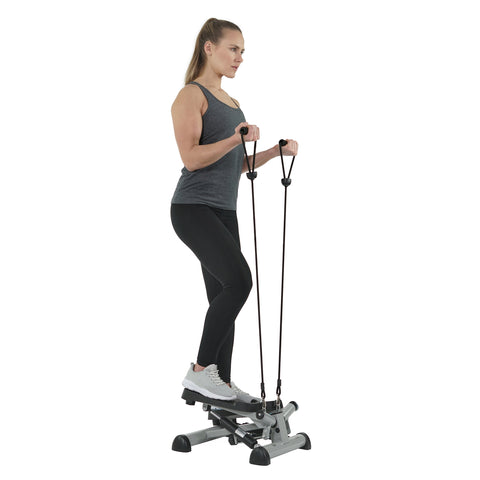 EFITMENT Twist Fitness Stepper Step Machine with Resistance Bands for Fitness & Exercise - S023