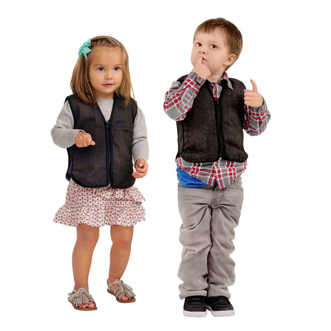 ZooVaa Weighted Compression Kids Vest w/ Removable Weights