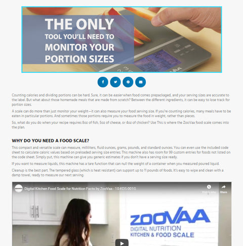 ZooVaa Food Scale