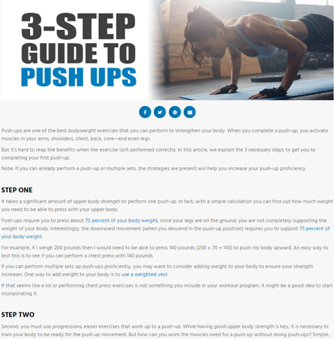 Push Up Guide
