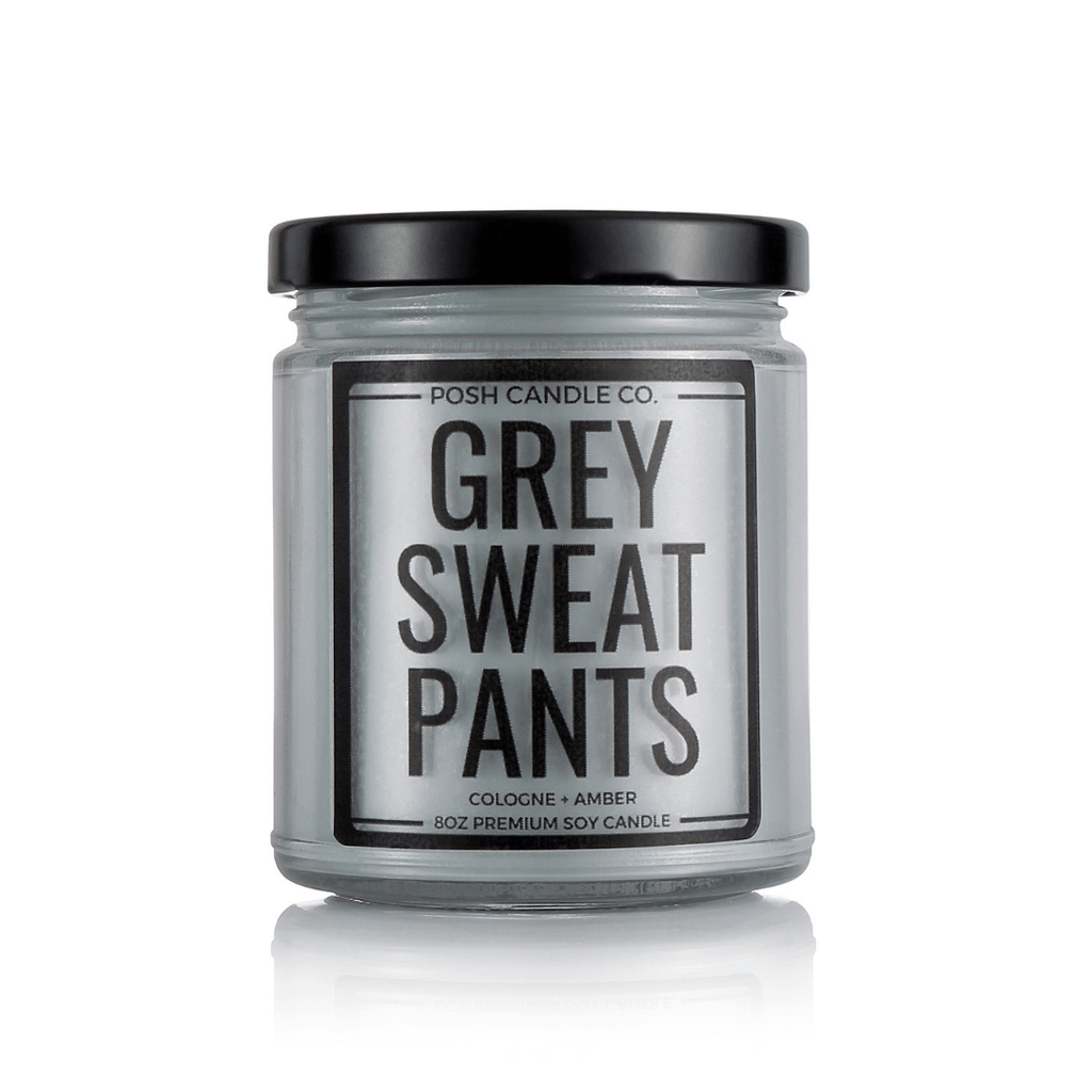 Grey Sweatpants - Posh Candle Co.